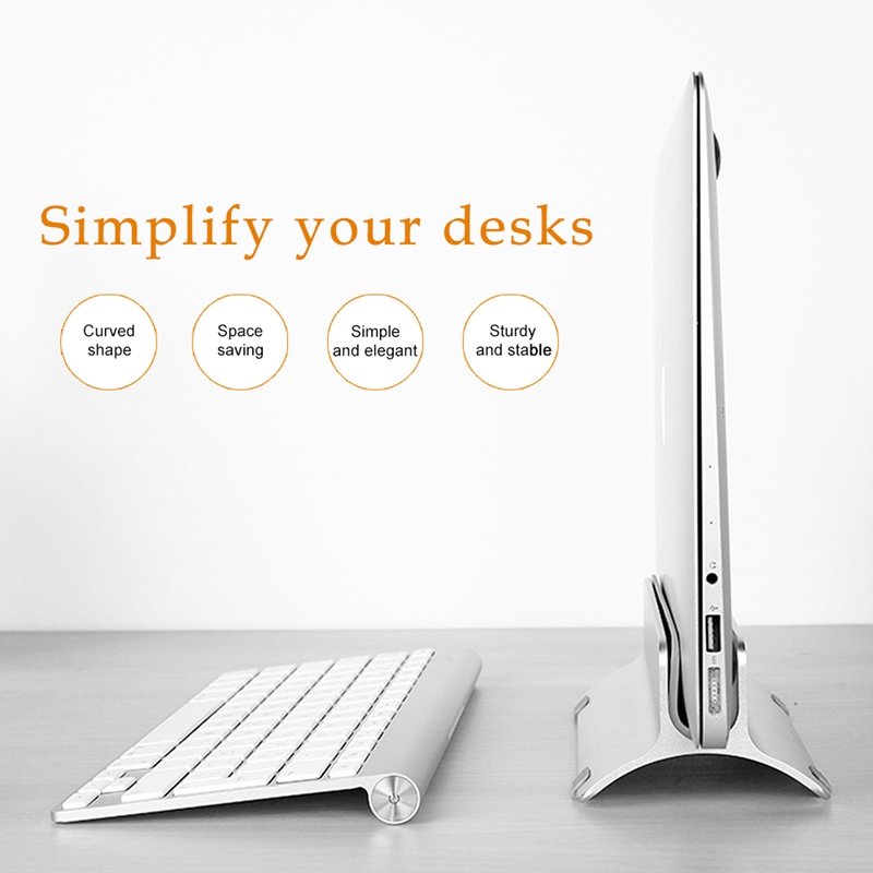 Aluminium Vertical Laptop Stand Holder Space Saving For Notebooks Macbook Pro/Macbook Air