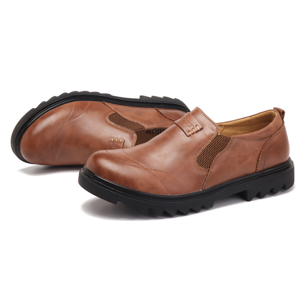 Mern Comfy Casual Business Elastic Band Slip On Oxfords