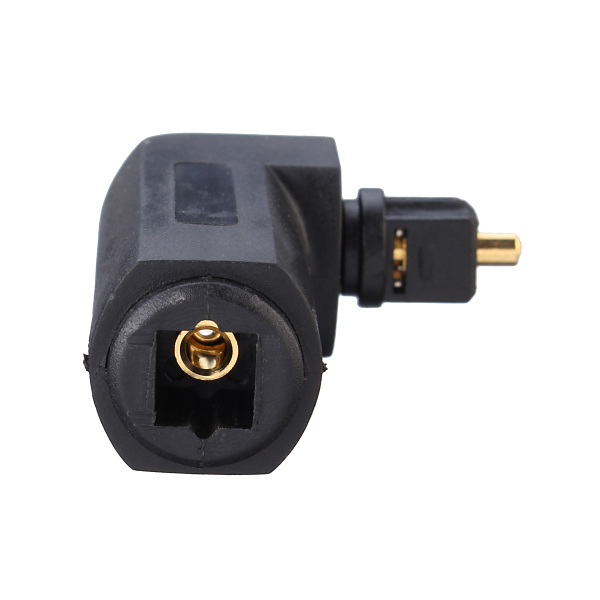 90° Digital Optical Audio Cable Adapter Male to Female Right Angle PC TV DVD Stereo Cable Adapter
