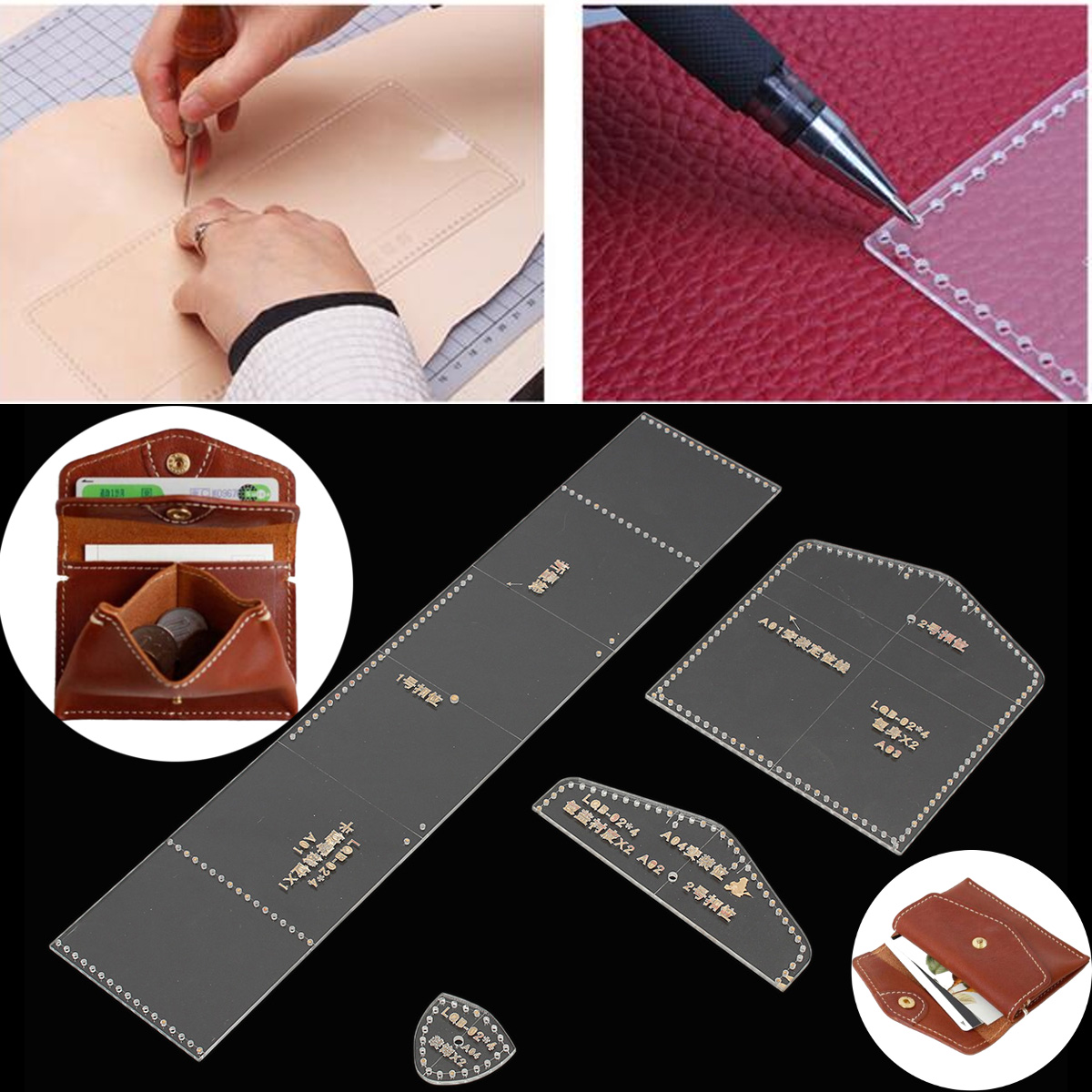 Acrylic Template Leather Pattern Acrylic Sheet Pattern Leather Templates Craft Tools