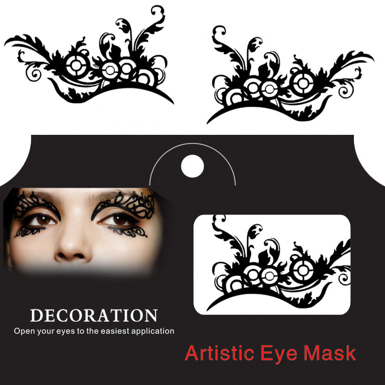Eye Tattoo Sticker Halloween Squishy Eyes Liner Lace Fr