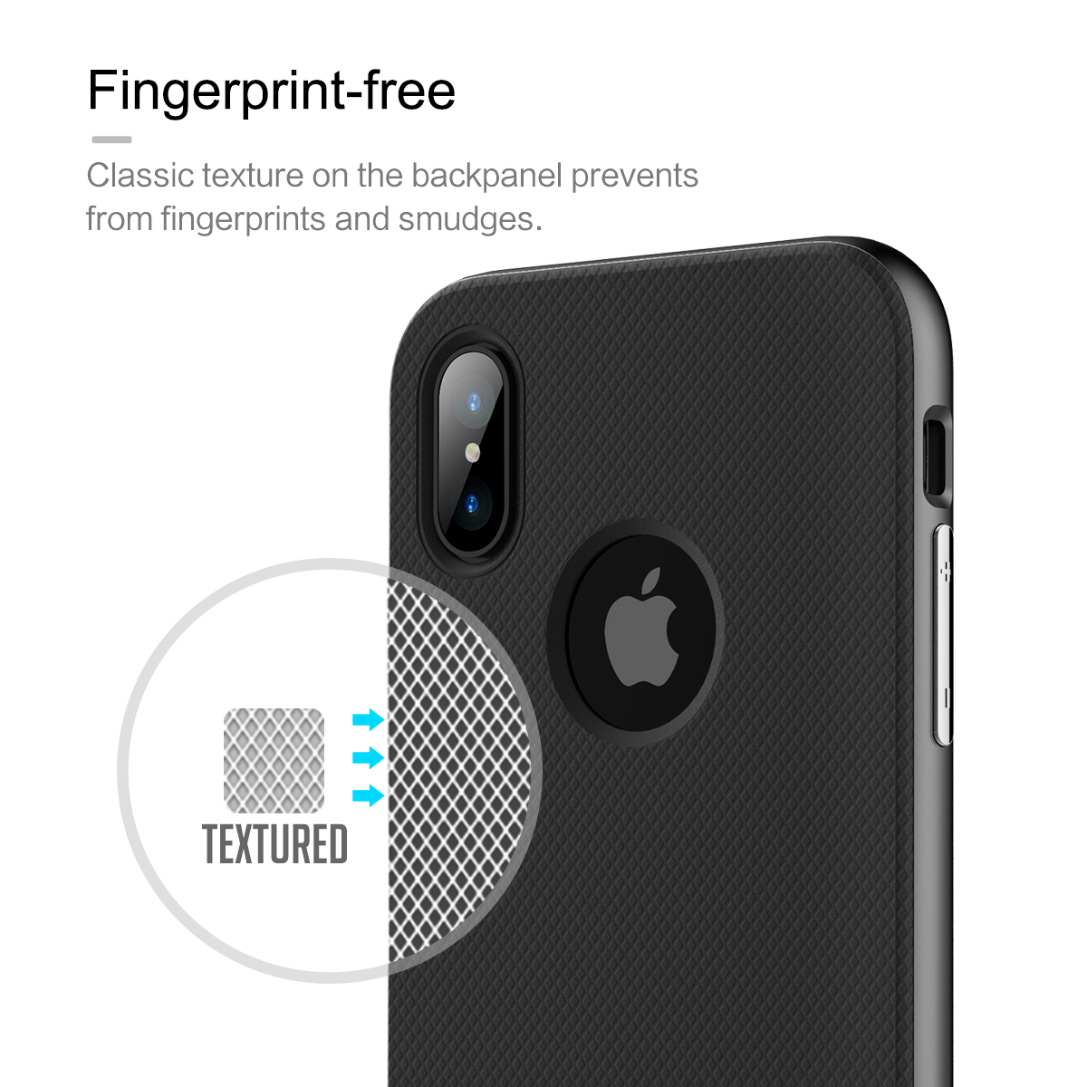 Rock Slim Anti Fingerprint Textured Case For iPhone X
