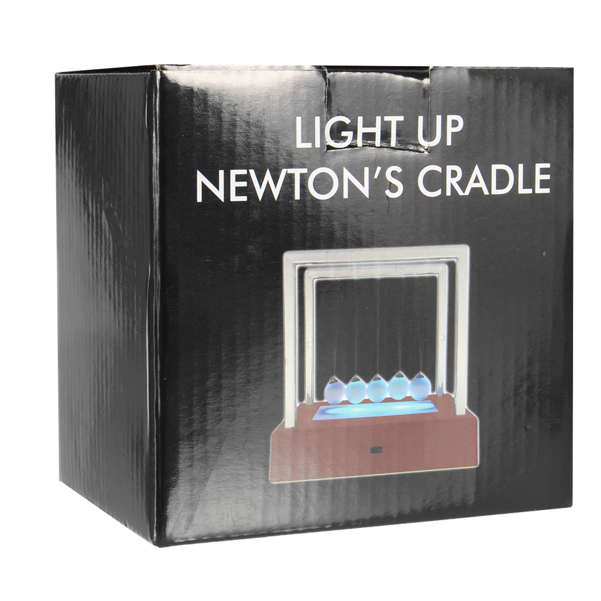 Newtons Cradle Balance Ball with Light Office Science Educational Desk Decor Decoration