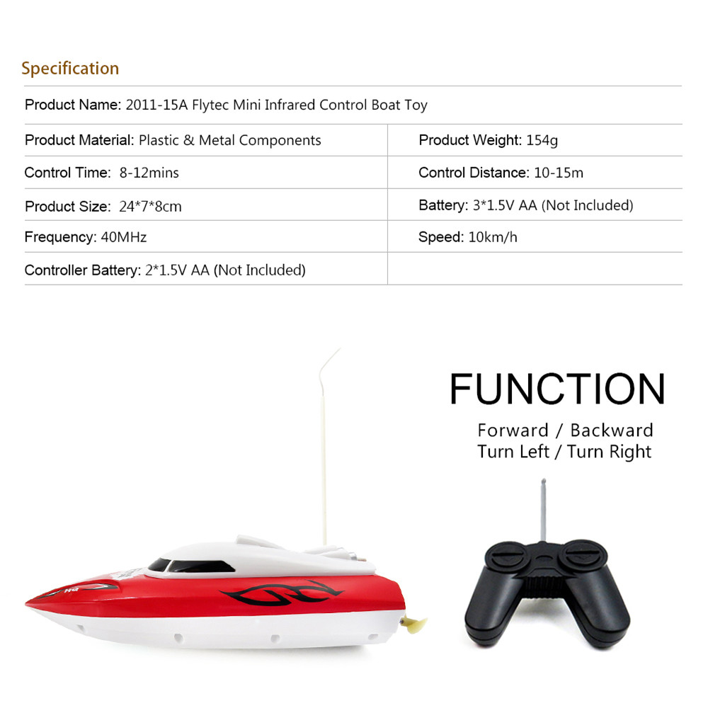 Flytec 2011-15A 24CM 40HZ Water Cooled Motor RC Boat Wireless Racing Fast Ship - Photo: 2