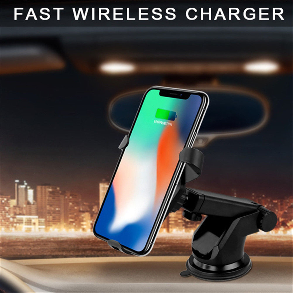 Car Wireless Charger Phone Holder Qi Fast Support Auto Automotive Outlet Sucker Shipping Methods