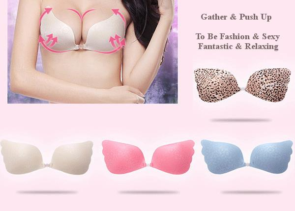 Butterfly Wings Shape Silicone Strapless Invisible Bras