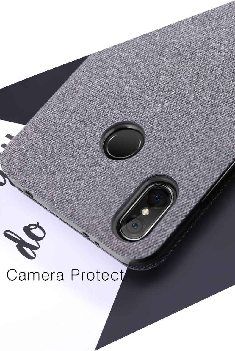 Bakeey Flip Shockproof Fabric Soft Silicone Edge Full Body Protective Case For Xiaomi Mi A2 Lite/ Redmi 6 Pro