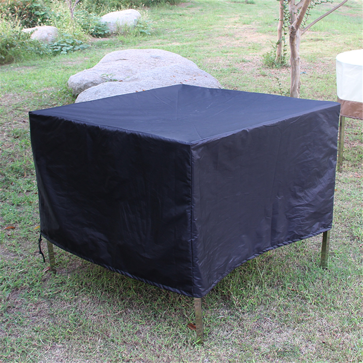 IPRee® 150x150x75cm Outdoor Garden Waterproof Rattan Cube Table Furniture Cover Shelter Protection