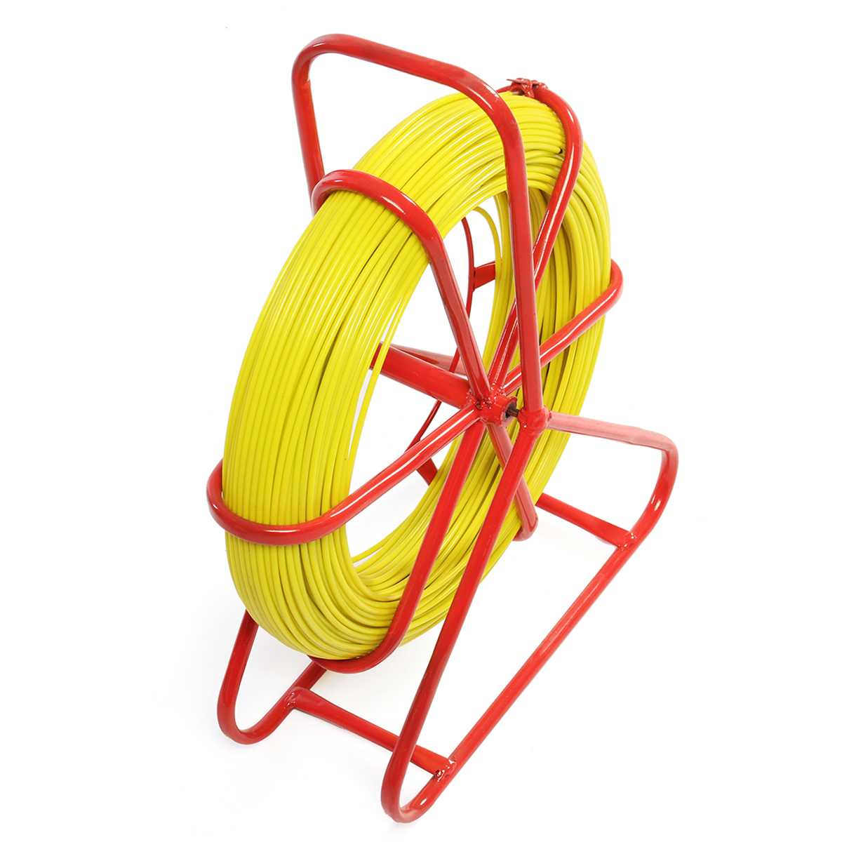 Fish Tape Fiberglass Pulling Cable Wire Running Tube Rod Duct Puller Tool 4.5mmX150m 6mm*180m 9mm*150m