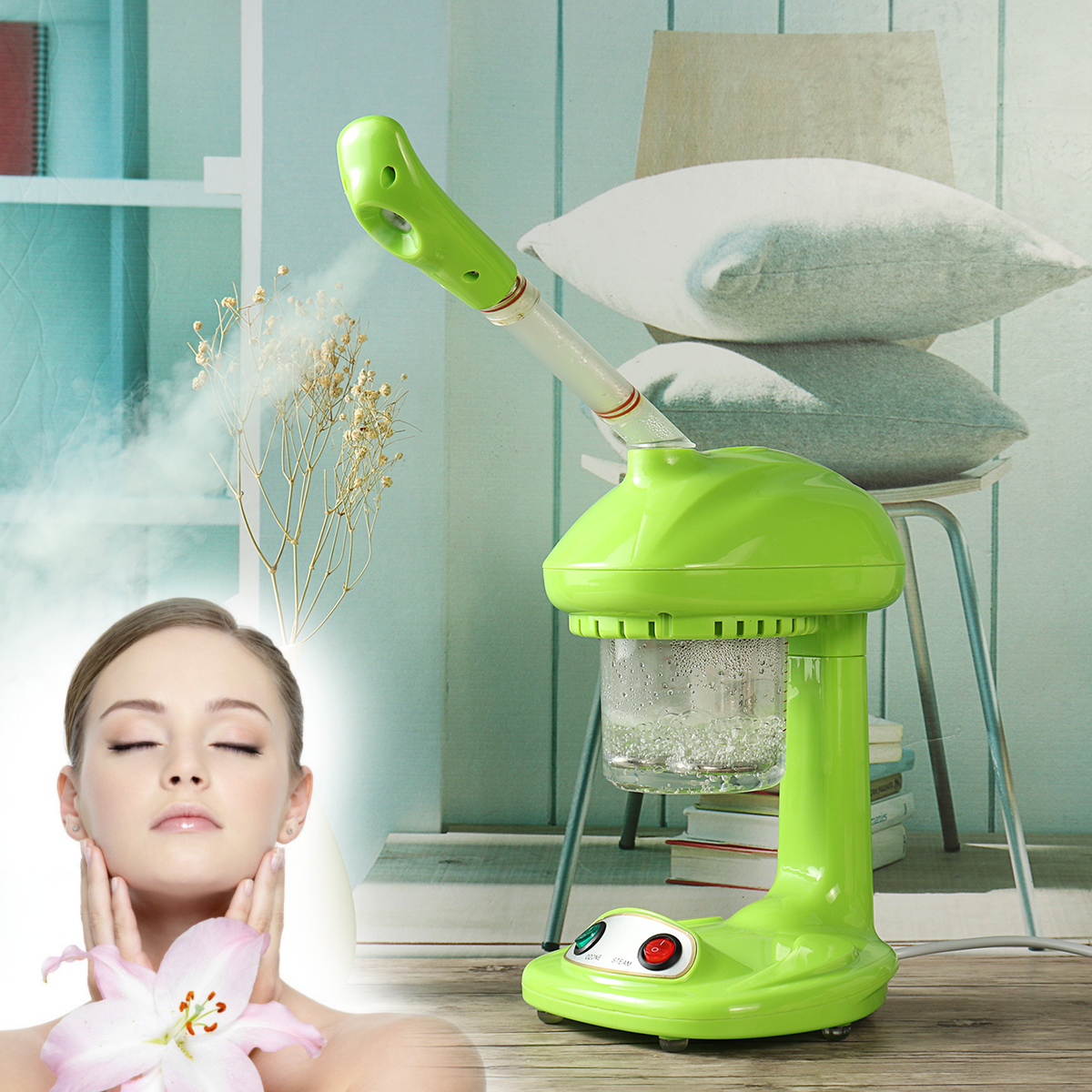 220V 480W 360° Rotatable Face Steam Hot Sprayer