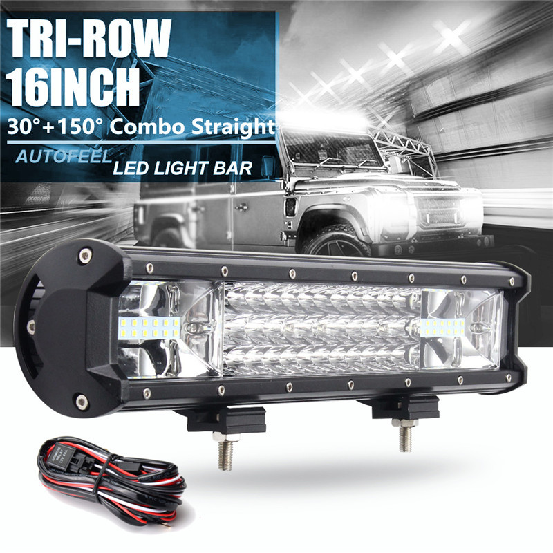 16inch 216w 7d led work light bars flood spot combo 10 30v with rh banggood com