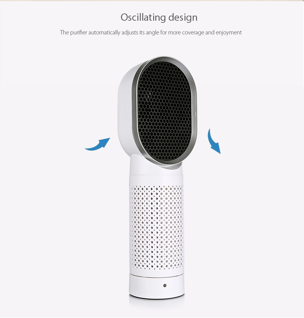 KCASA AFT-05 Desktop Triple Filtration System Air Purifier Allergen Filter Negative Oxygen Ion Two Speed Energy Saving