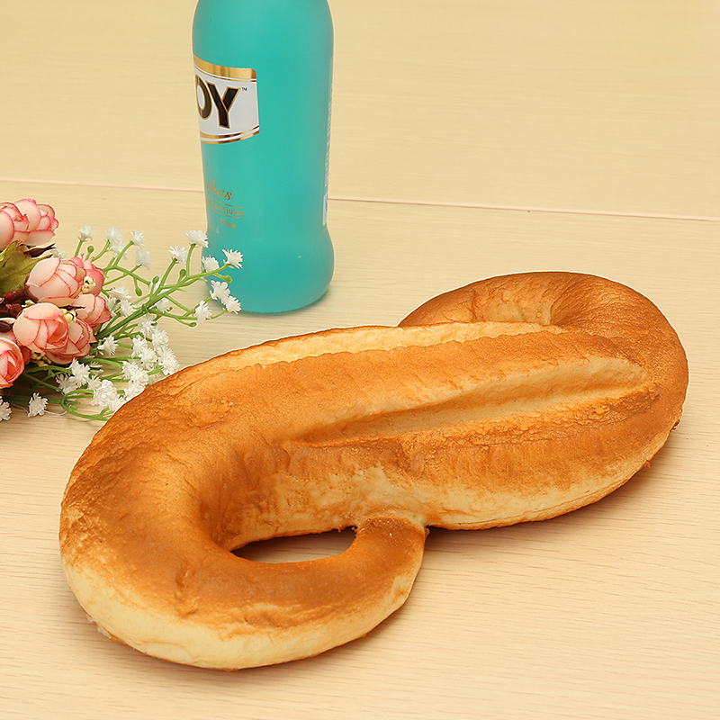 Squishy Jumbo 8 Shaped Bread 28cm Slow Rising Bakery Collection Gift Decor Toy