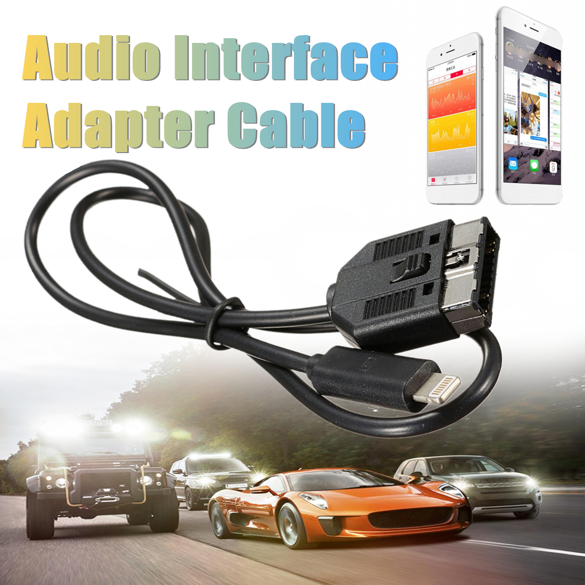 Audio Interface Adapter Audio In-Car Cable For IPHONE 5 6 7 PLUS for ROVER for JAGUAR
