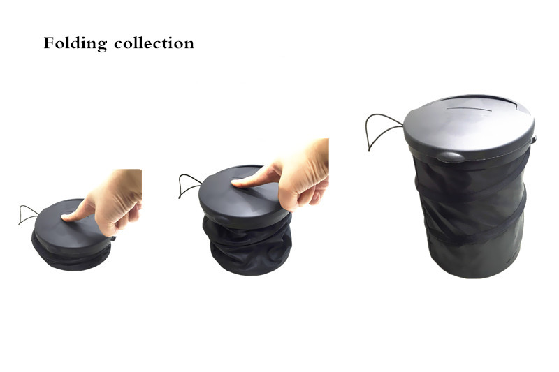 Foldable Car Garbage Cans Portable Rubish Trash Bin Creative Storage Bucket