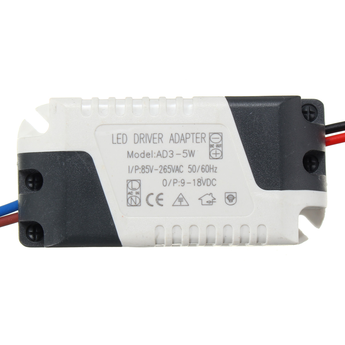 AC85-265V To DC9-18V 3-5W 300mA LED Light Lamp Driver Adapter Transformer Power Supply