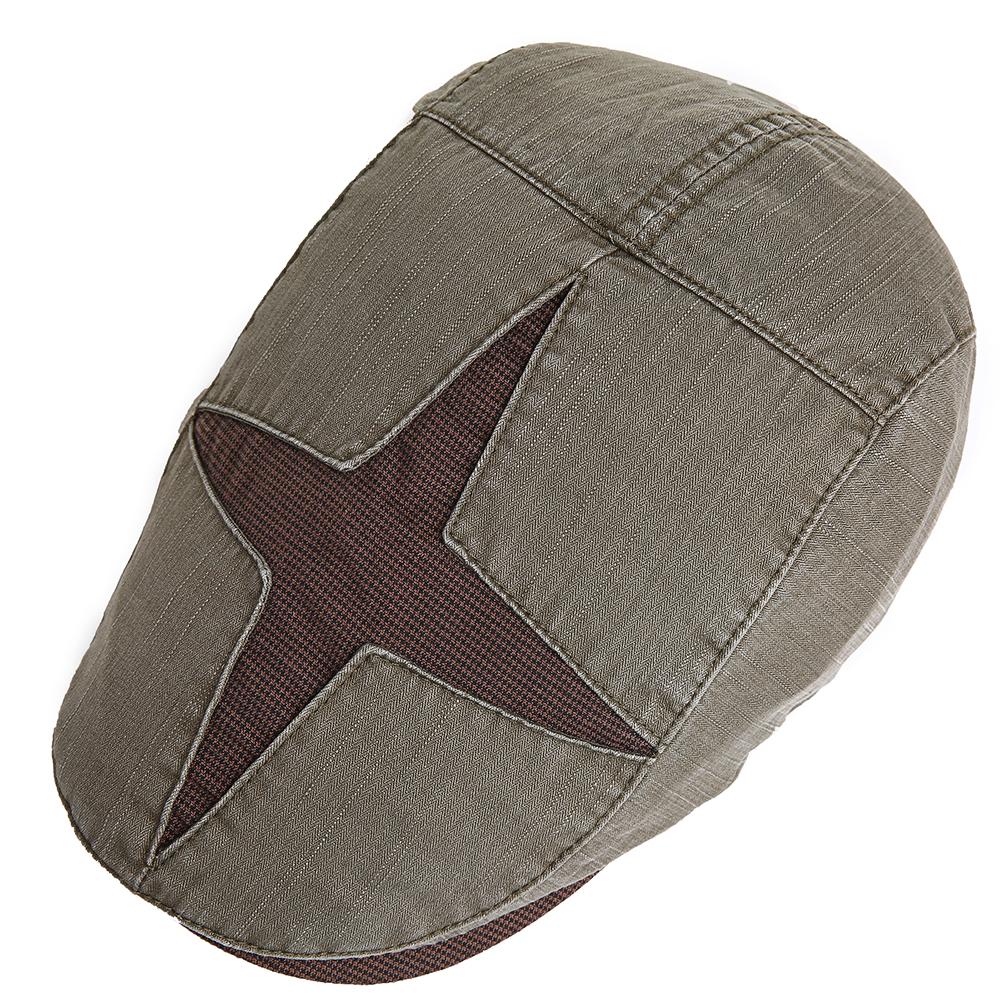 Men Women Cotton Adjustable Patchwork Painter Berets Caps