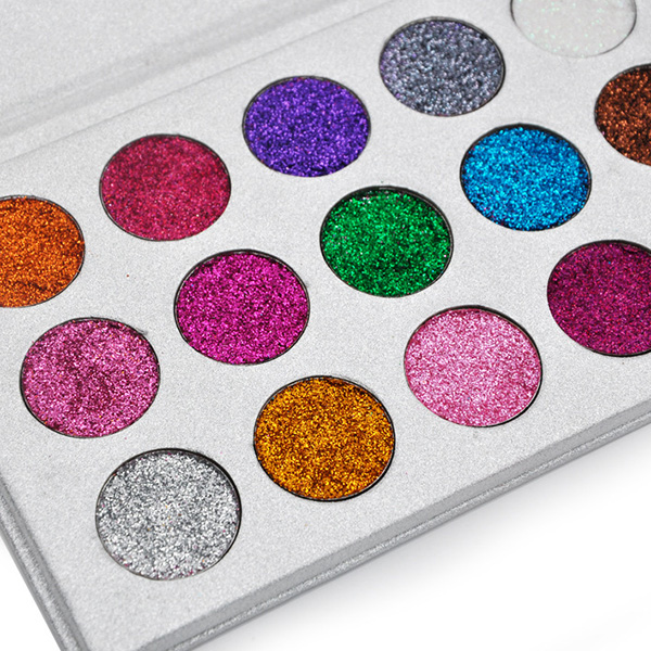 VERONNI 15 Colors Eyeshadow Palette Diamond Glitter