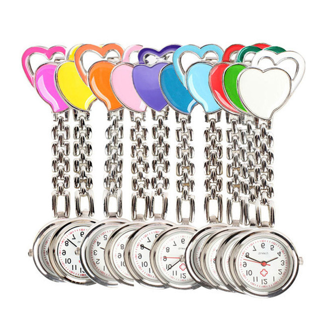 Sweet Heart Pocket Watch Stainless Dial Tunic Fob Pocke