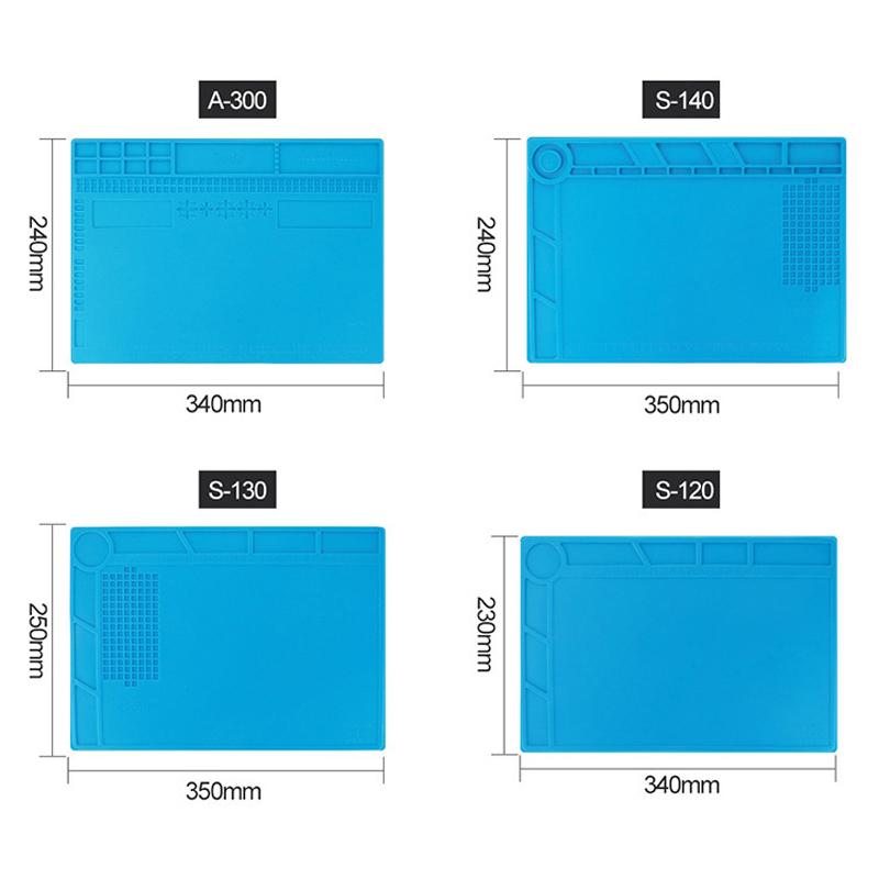 BEST S120 S130 S140 Magnetic Heat Resistant Silicone Pad Desk Mat Maintenance Platform Heat Insulation BGA Soldering Repair Station