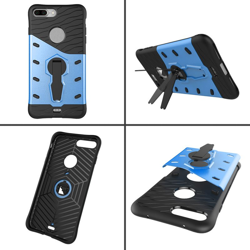Rotating Kickstand Hybrid Plastic Silicone Case For iPhone 7 Plus/8 Plus