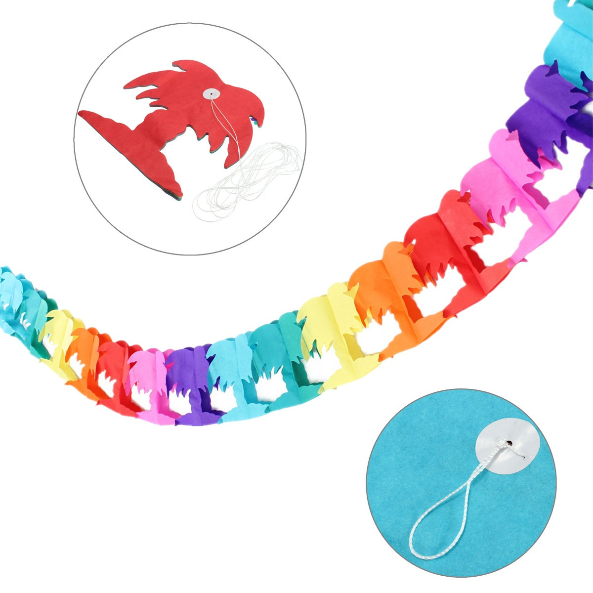3 M Themed Events Beach Party Garlands Rainbow Decoration Toys Palm Tree