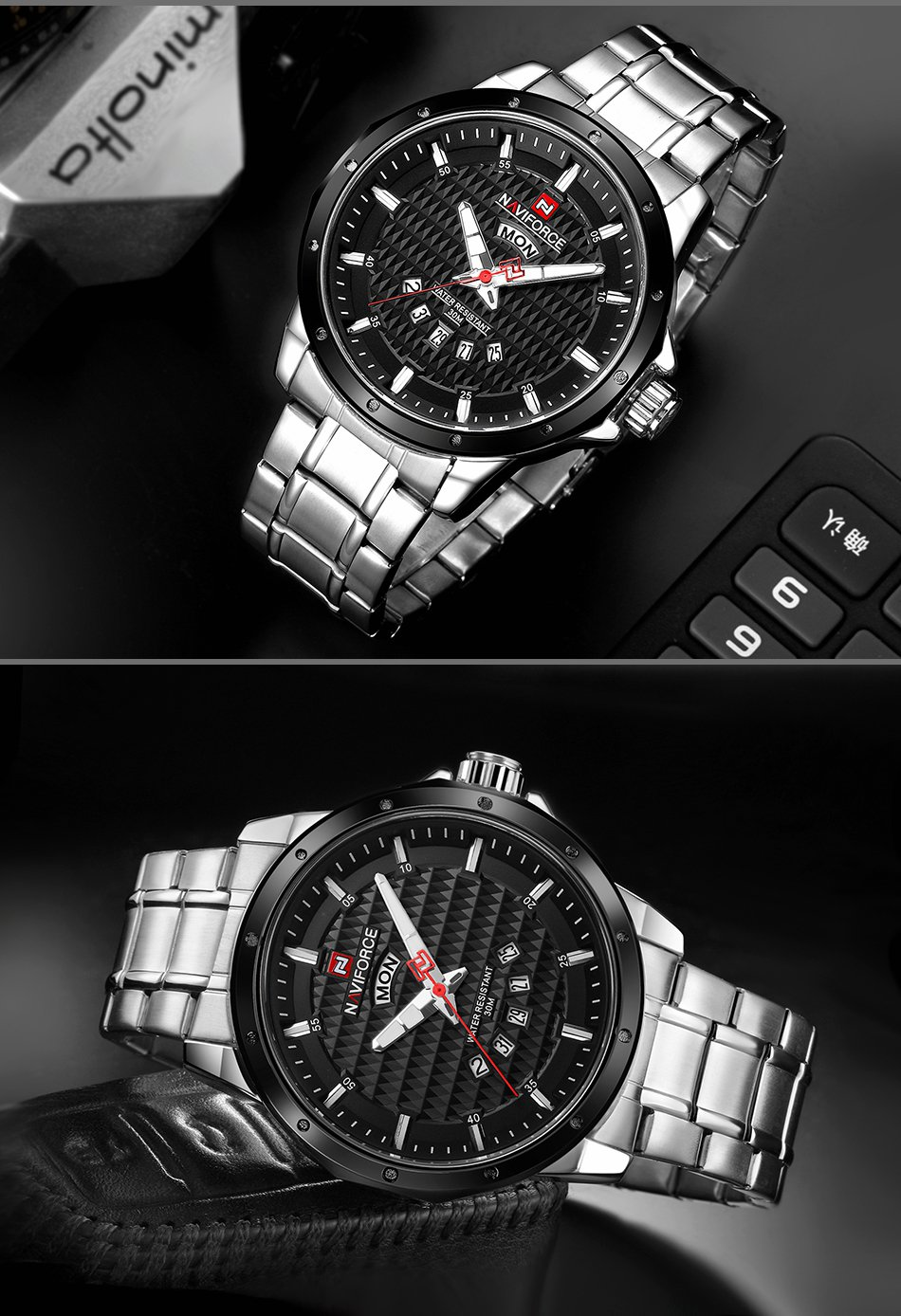 NAVIFORCE 9115 Luxury Fashion Men Quartz Wrist Watch