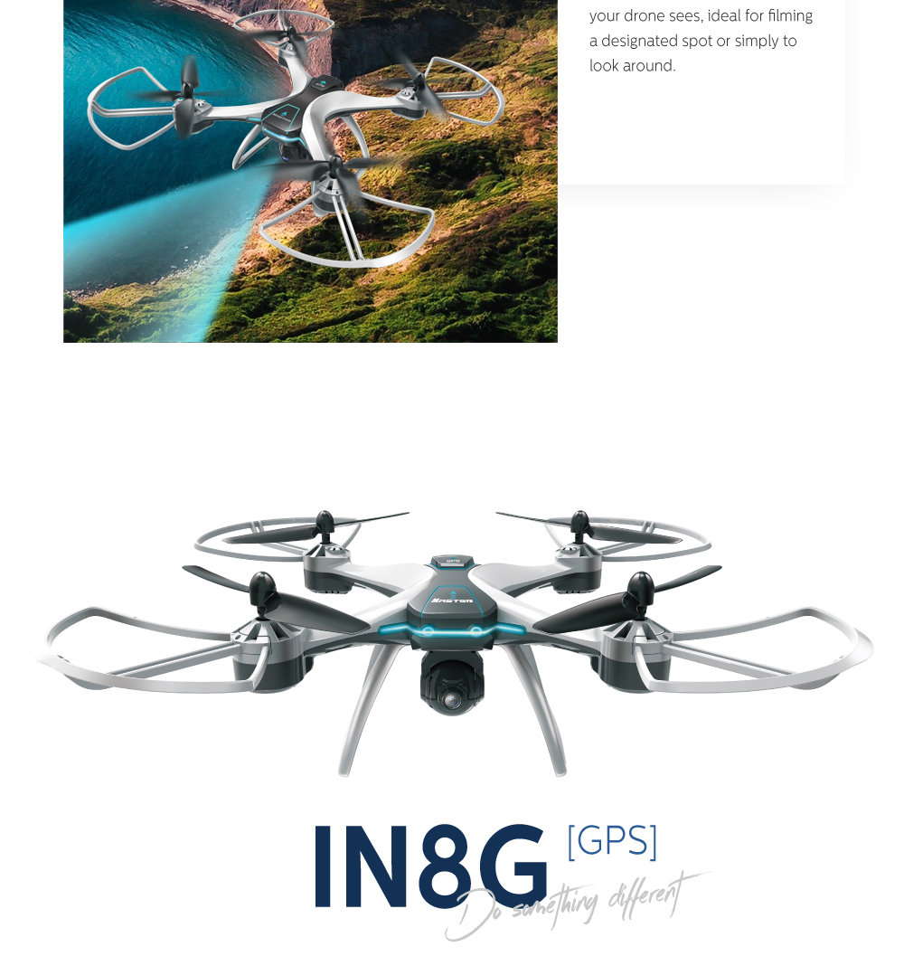 FX-8G GPS WiFi FPV with 720P/1080P HD Camera 12mins Flight Time High Hold Mode RC Drone Quadcopter - Photo: 2