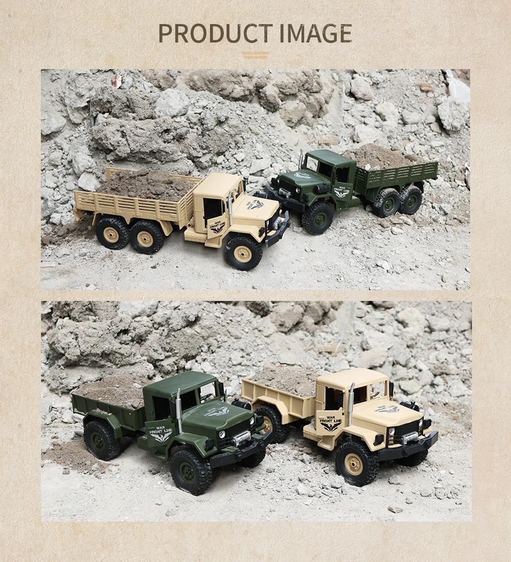 JJRC Q62 1/16 2.4G 4WD Off-Road Military Truck Crawler RC Car