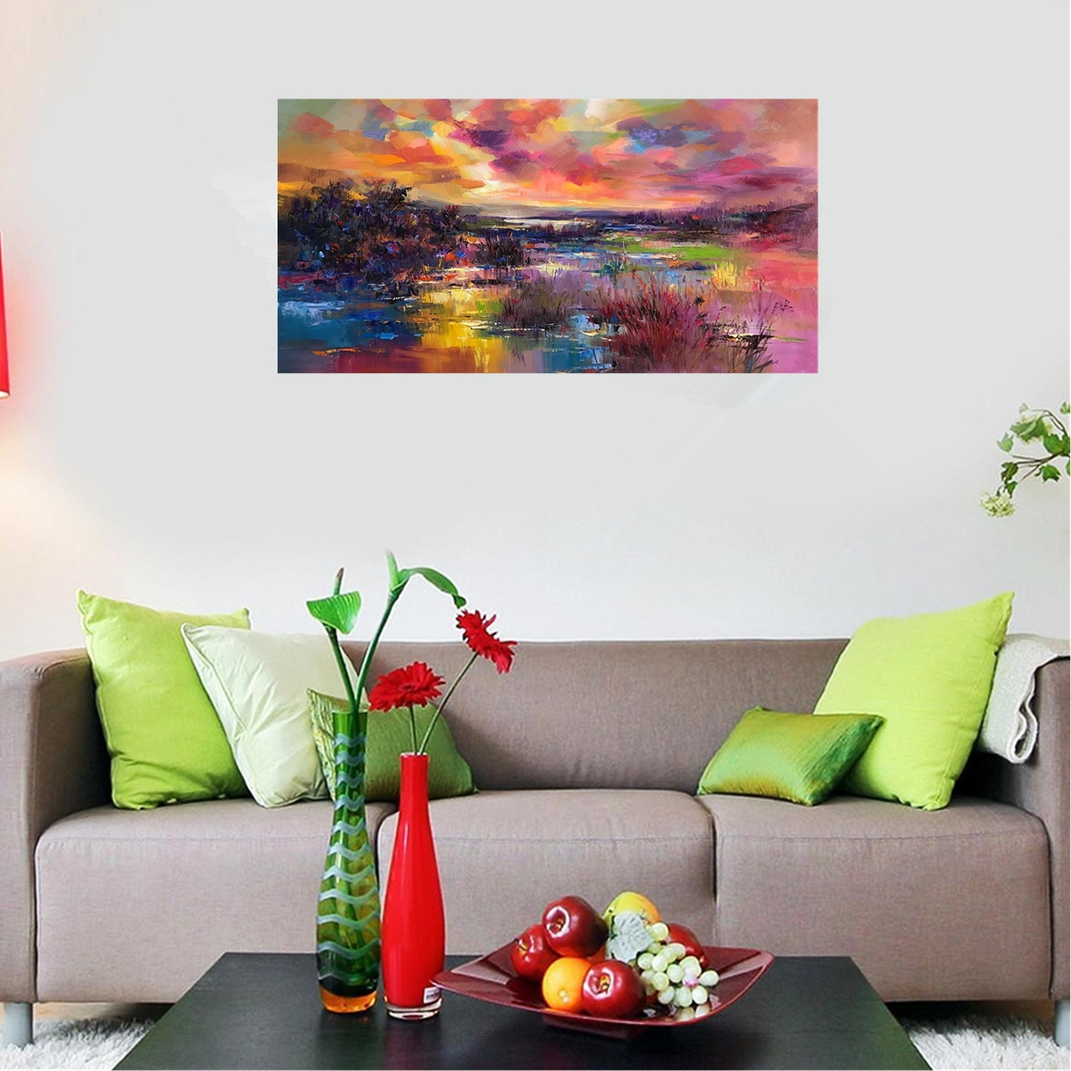 60*120cm Modern Hand-painted Oil Paintings Abstract Art Decor On Canvas Unframed