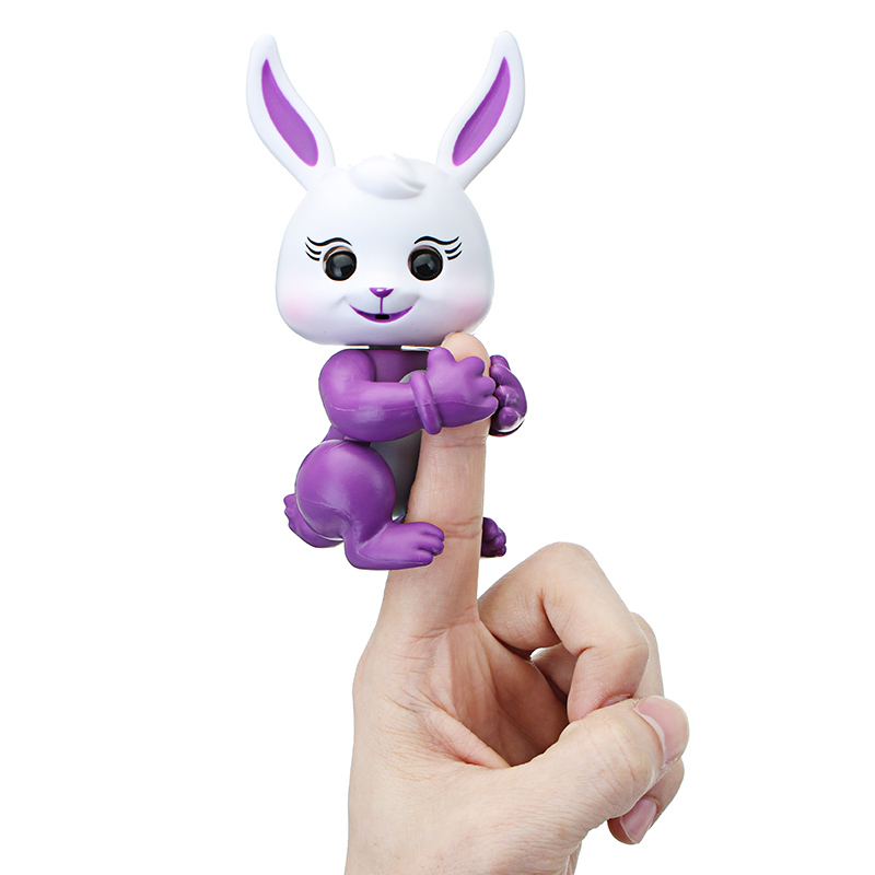 Christmas Finger Baby Interactive Pet Rabbit Smart Colorful Induction Toys For Kids Children Gift