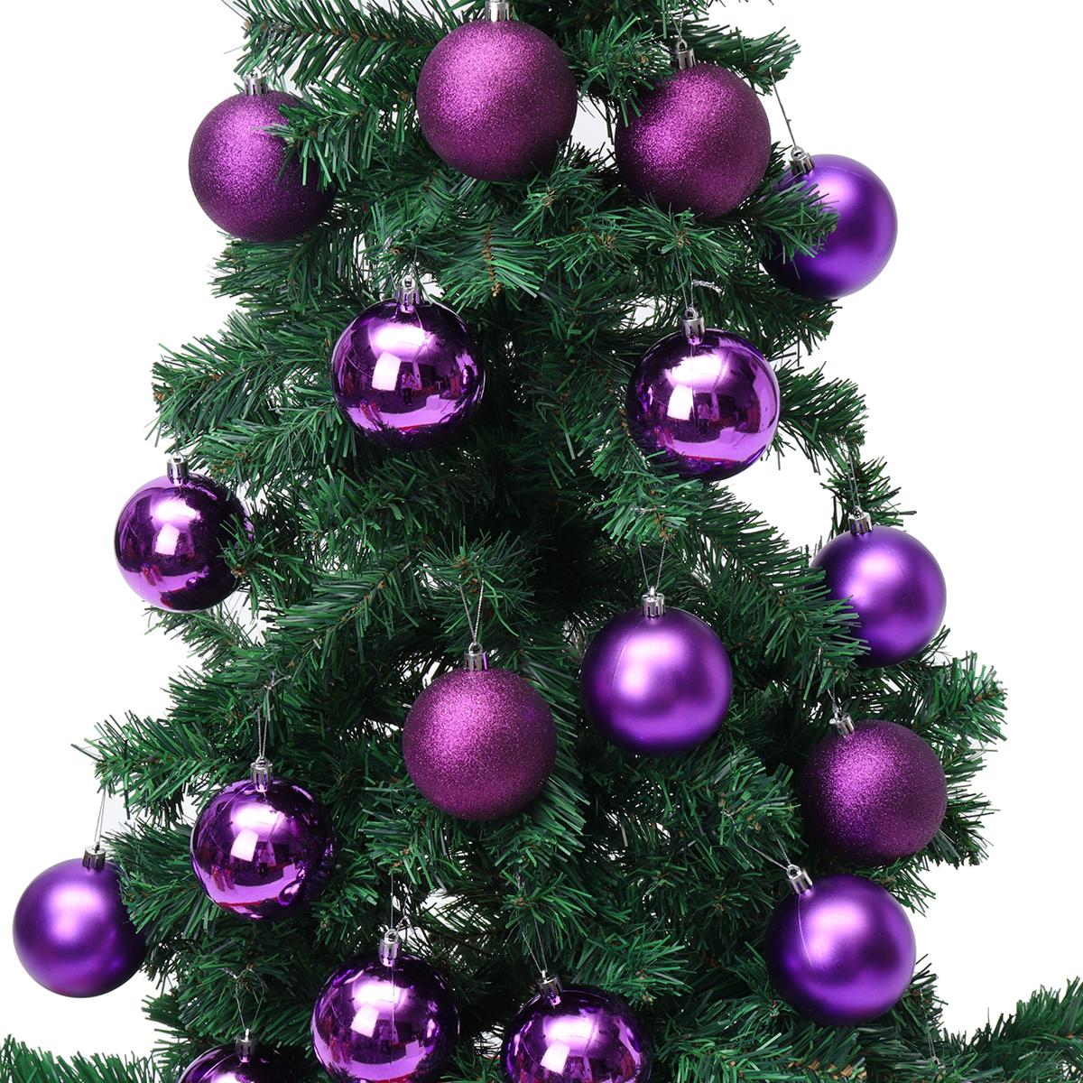 24PCS Merry Christmas Tree Decoration Xmas Balls Ornaments Party Wedding Gift
