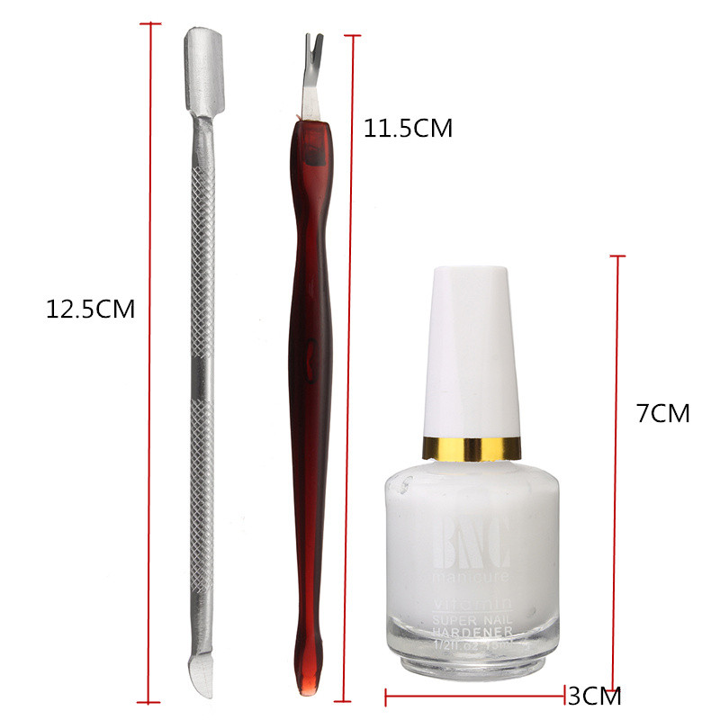 3pcs Nail Cleaner Set Pusher Cuticle Dead Skin Remover Fork Softener Glue Manicure Tools Set
