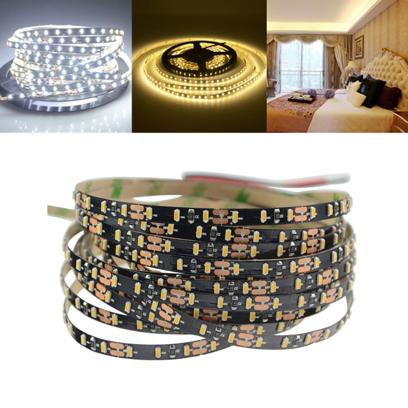 5M 5MM Width 60W SMD3014 Not-waterproof Pure White Warm White LED Strip Light DC12V