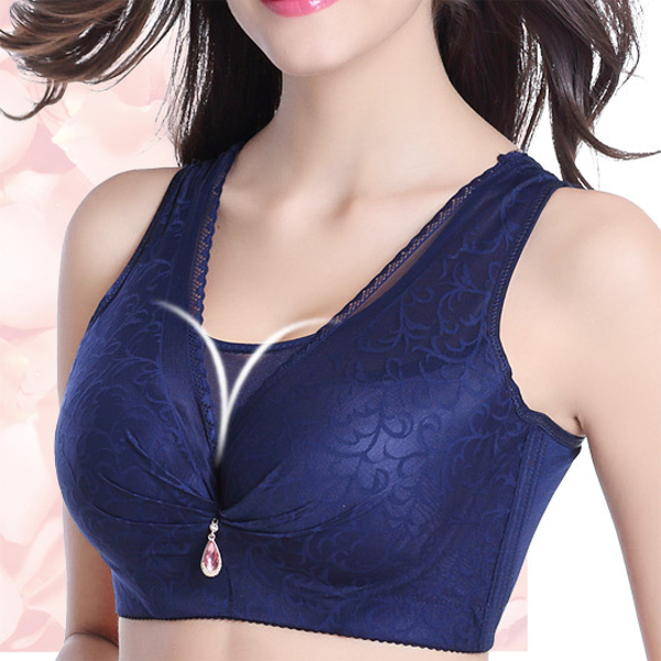 Sexy Lace Mesh Wrap Bra Full Coverage Vest Bra