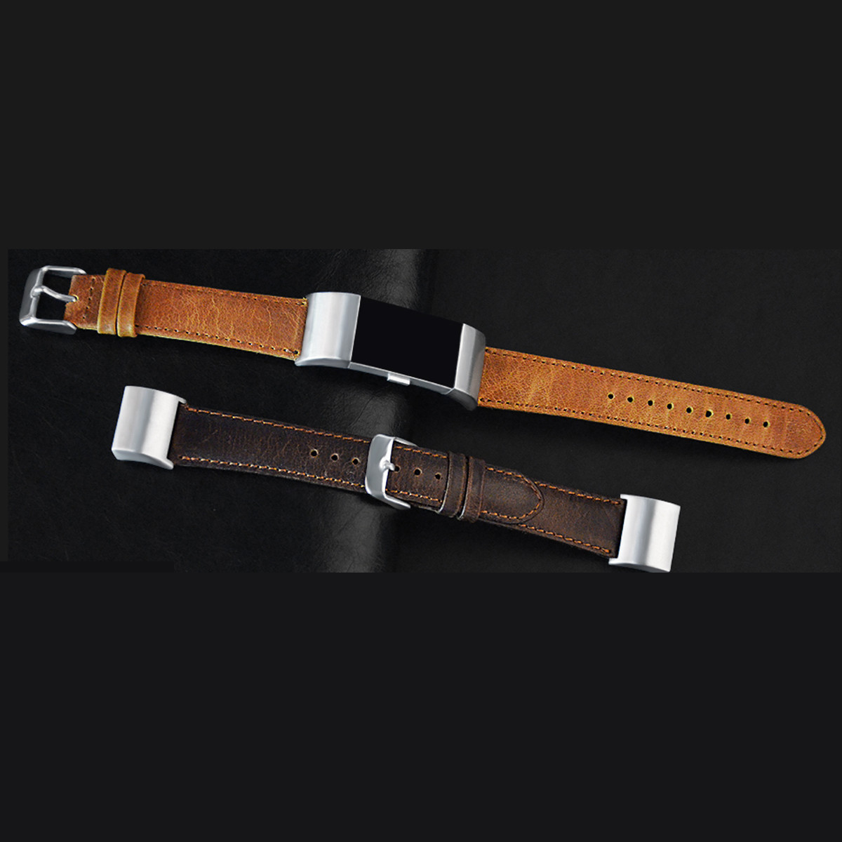 Replacement Leather Buckle Wrist Watch Band Strap Horses Belt For Fitbit Charge 2 Watch