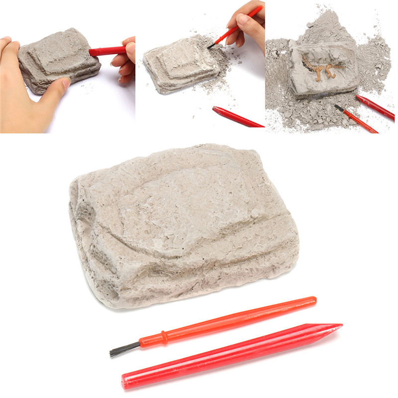 Dinosaur Fossils Excavation Kit Archaeology Dig Up History Skeleton Fun Kids Gift Toys
