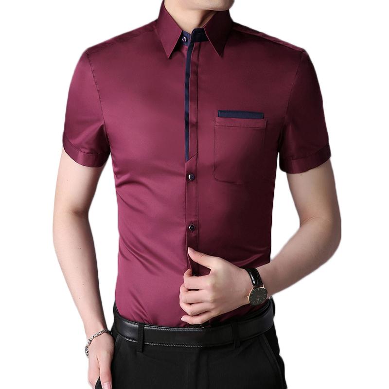 Business Stylish Non-ironing Button up Men Dress Shirts