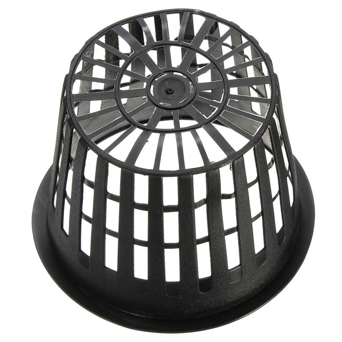 10pcs Black Plastic Hydroponic Planting Mesh Net Flower Pot Baskets Garden Plant Grow Cup