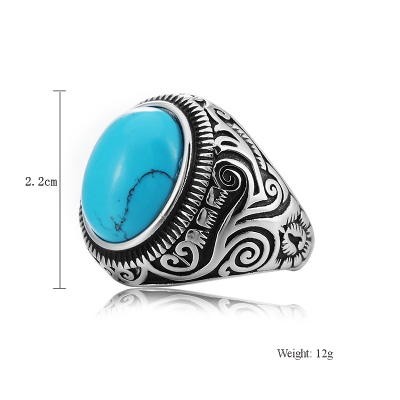 jewelry big womens chunky size sterling ring itm turquoise silver rings boho