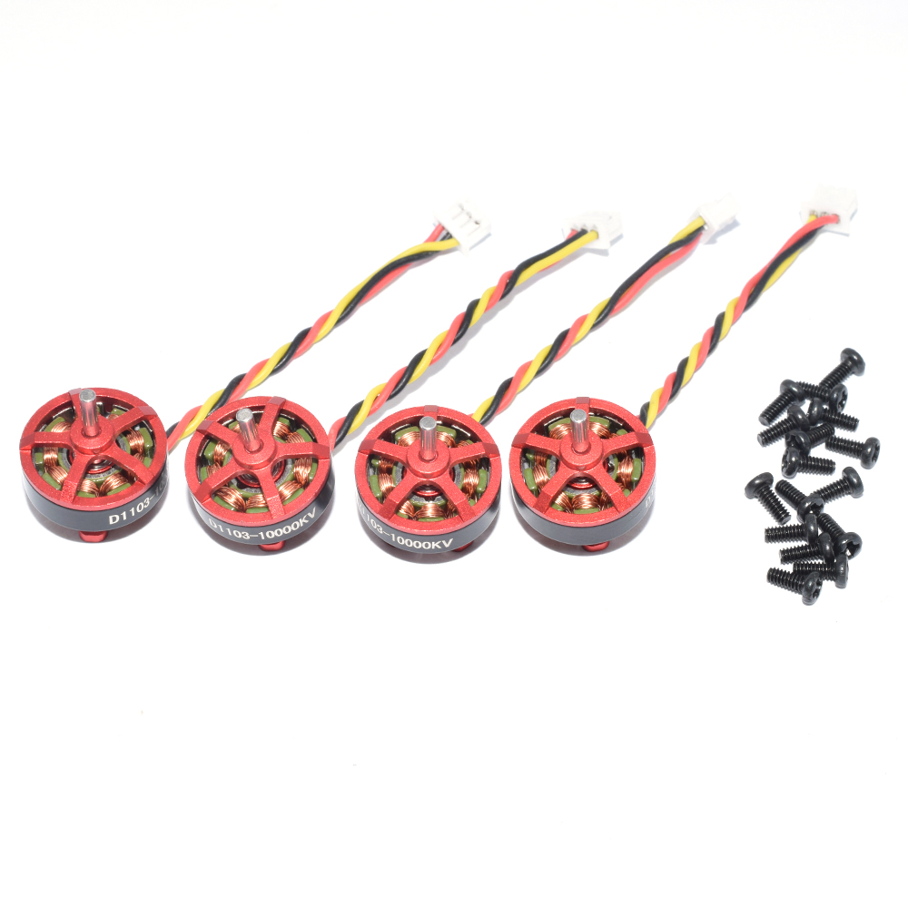 4 PCS Aurora RC D1103 1103 10000KV 1-3S Brushless Motor for RC Whoop FPV Racing Drone - Photo: 4
