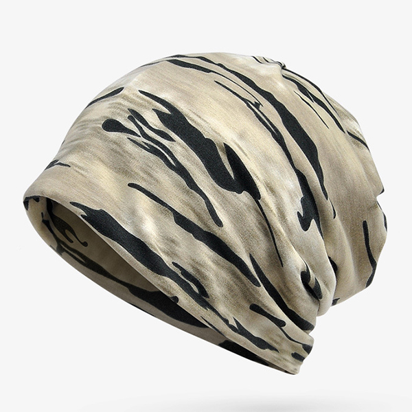 Mens Women Camouflage Baggy Hats Multi-function Collar Scarf Men Hip Hop Beanie Hat