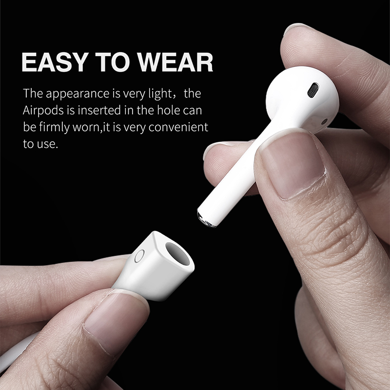 Baseus Magnetic Silicone Flexible Strap Safety Neck Strap for AirPods iPhone Earphone Headphone