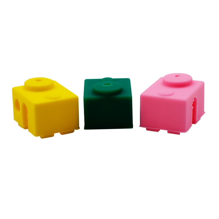 Green/Pink/Yellow Silicone Case For V6 PT100 Aluminum Block 3D Printer Part Hot End
