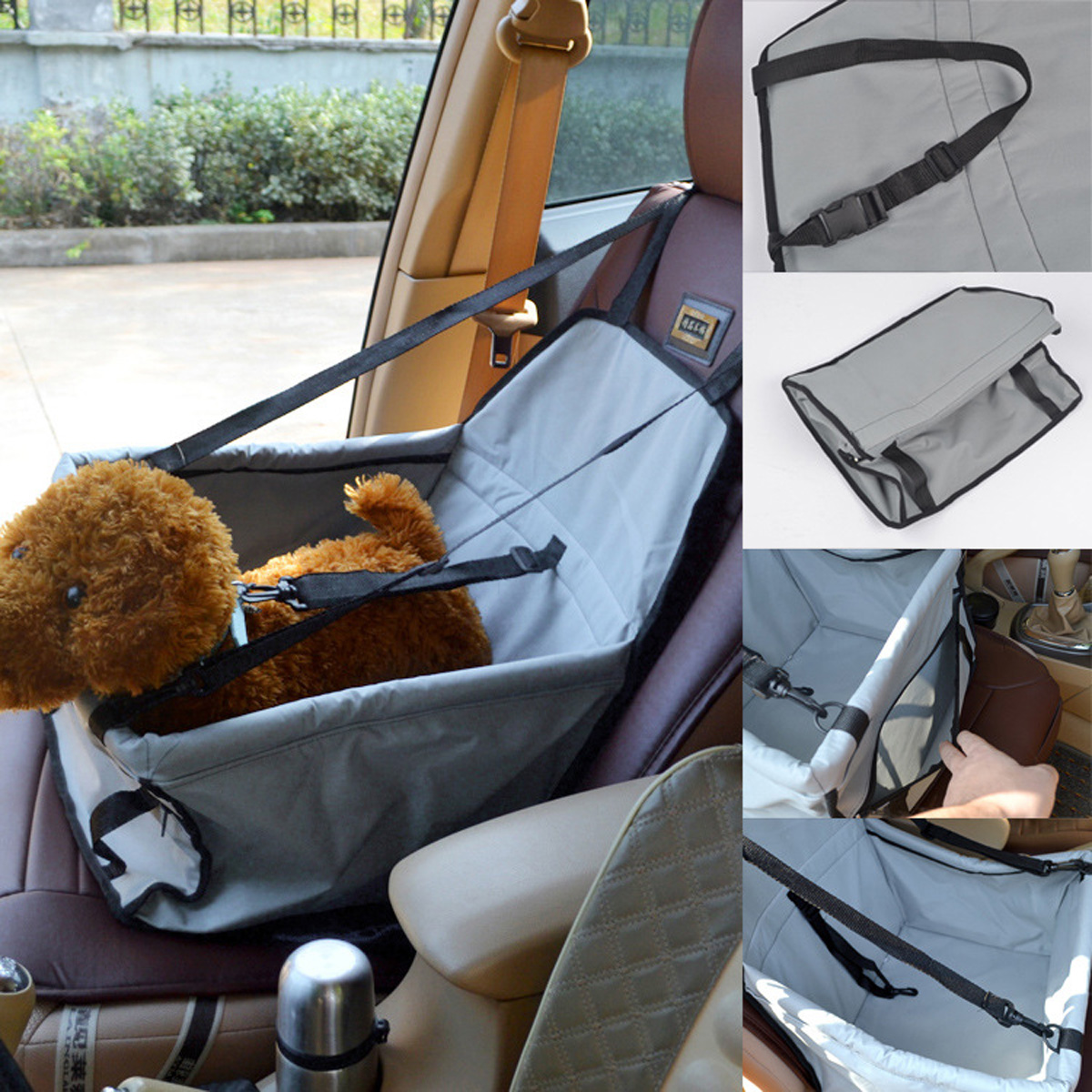 Dog Pet Car Mat Waterproof Breathable Safety Seat Belt Cover Travel Storage Bag