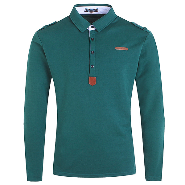 Mens Fashion Button Design Golf Shirt