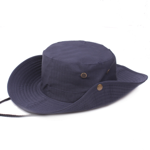 Mens Cotton Wide Brim Bucket Hat Summer Outdoor Sunscreen Visor Fisherman Hats