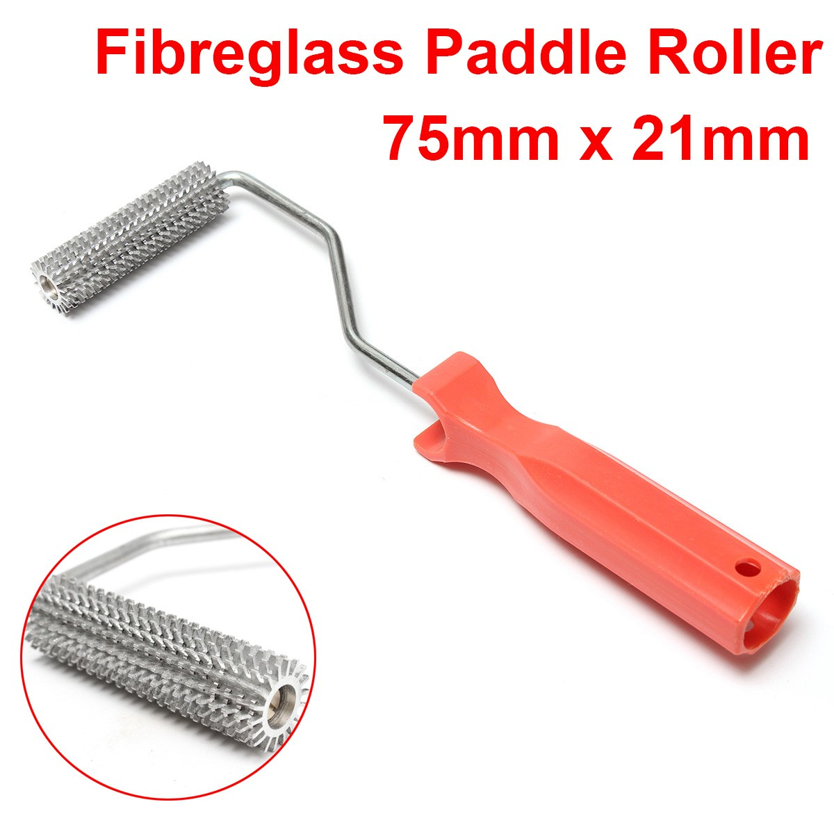 High Quality Aluminum Alloy Fiber Glass Paddle Roller 75mm x 21mm
