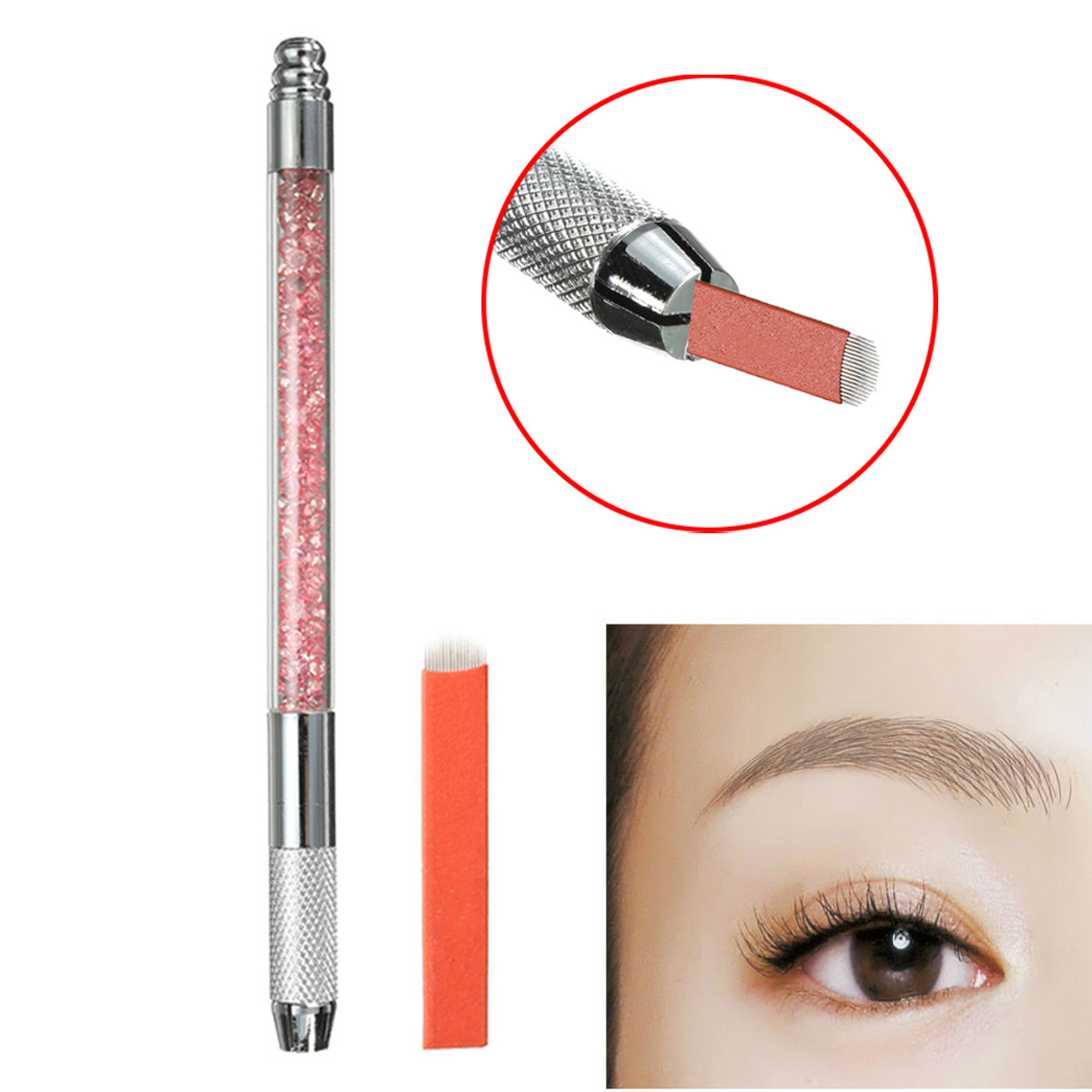 Microblading Manual Tattoo Accessories Pen With Needles Kit