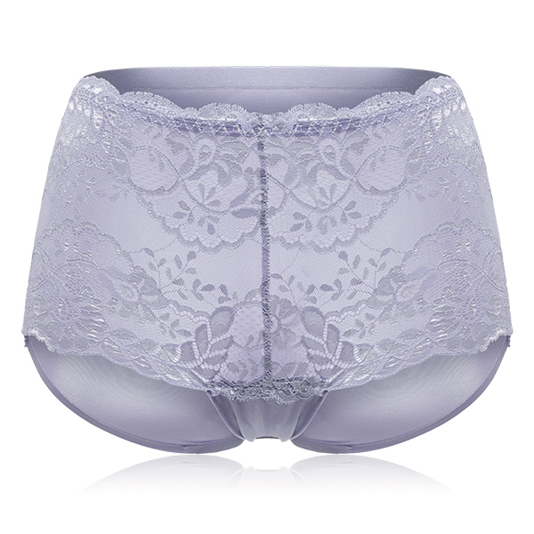 Sexy Floral Lace Mid Waist Full Hip Panties